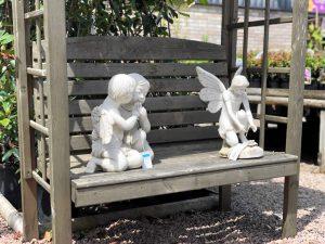 cherubs on bench